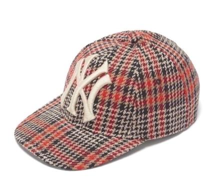 グッチ  NYヤンキーズ・ウールブレンドツイードキャップ・野球帽   Photo: matchesfashion