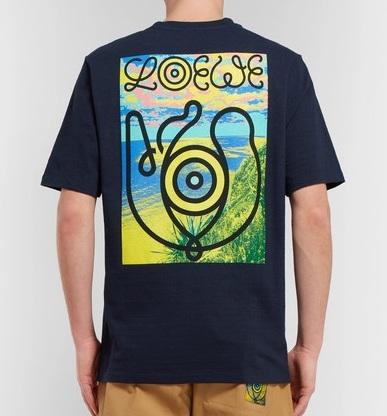 Photo:Mr Porter   ロエベ Eye/LOEWE/Nature スラブコットンジャージー・Tシャツ