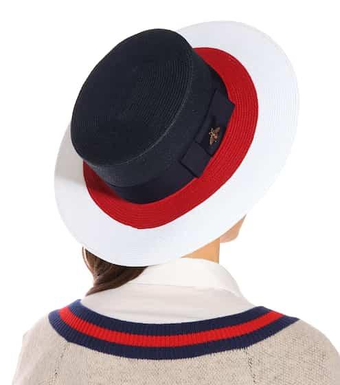 グッチ  ストライプペーパー帽子   Photo: mytheresa
