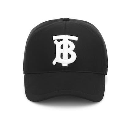 バーバリー  TB ロゴ刺繍・キャップ・野球帽・ユニセックス   Photo: mytheresa