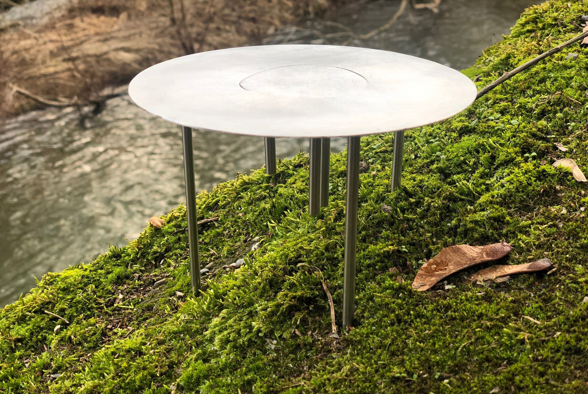 a table made for hills in nature