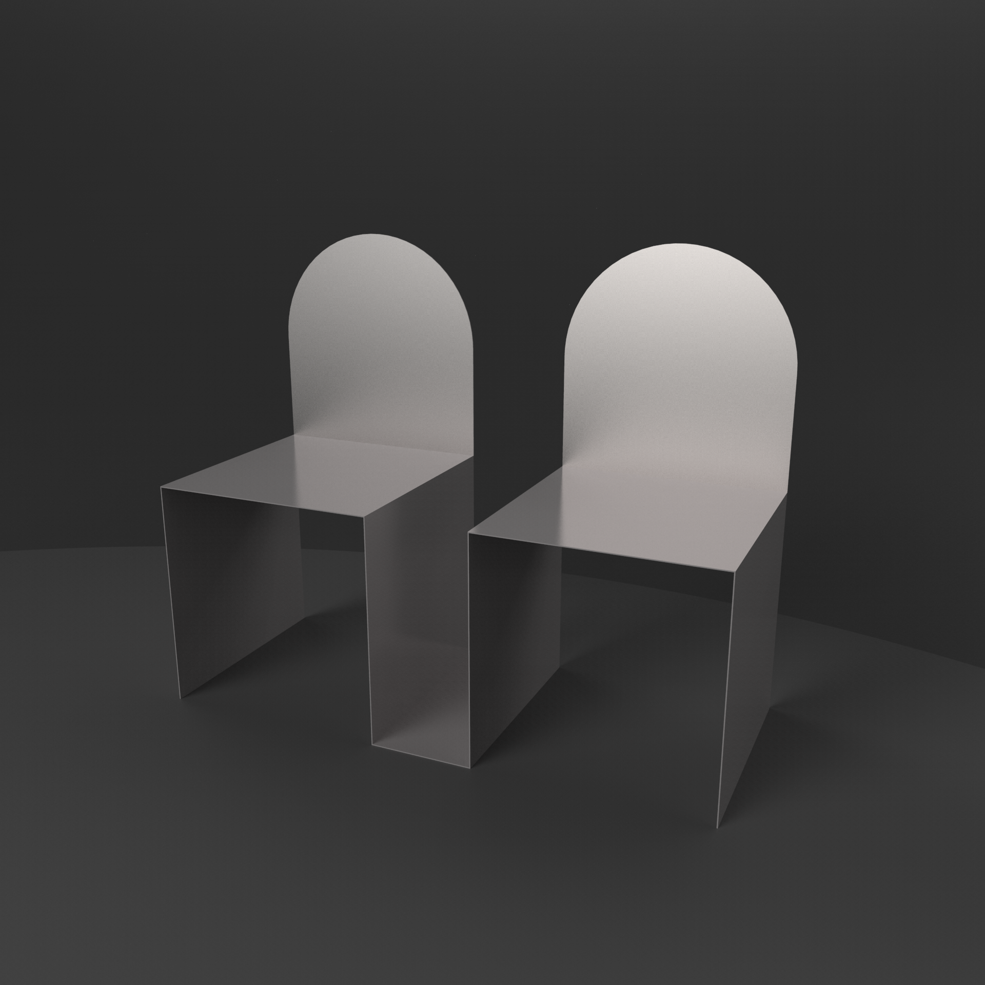 chairs leaning onto each other