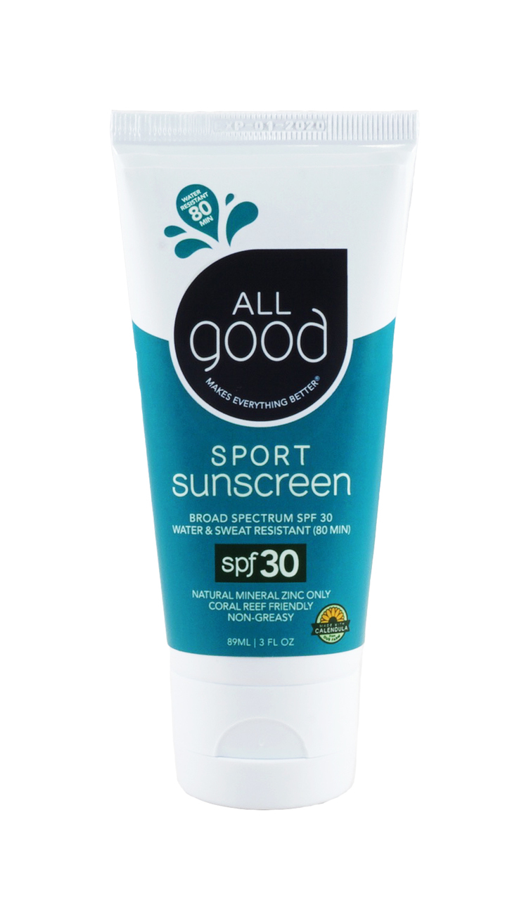 "All Good SUnscreen - $15.99""Our products are made with all-natural, organic ingredients and are formulated to heal so they not only feel good on you, they make you feel better.""A few more perks to shopping with All Good are they donate 1% of profits to 1% for the plant, all there materials contain a larger percentage of recycled materials and are 100% recyclable. They also carry a range of other products for healing the skin."
