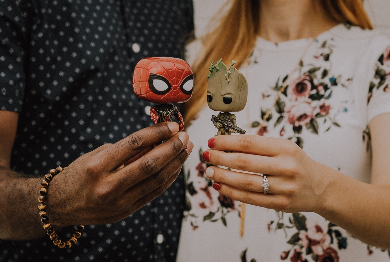 iron spider and groot with Amanda and James.jpg