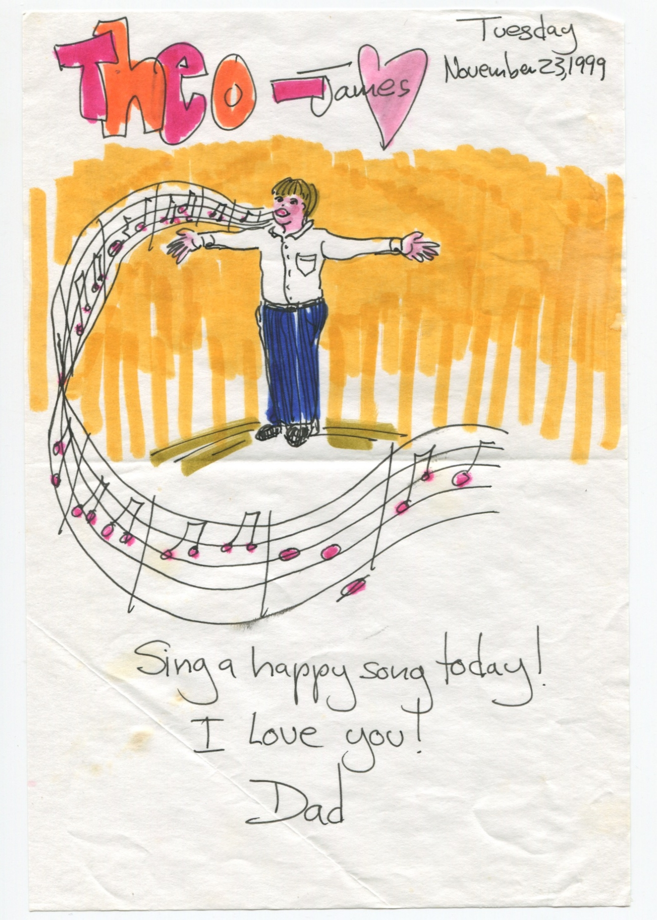 Sing a happy song today! I love you!