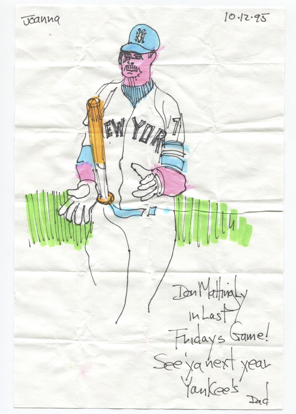 Don Mattingly in last Friday's game! See 'ya next year Yankees.