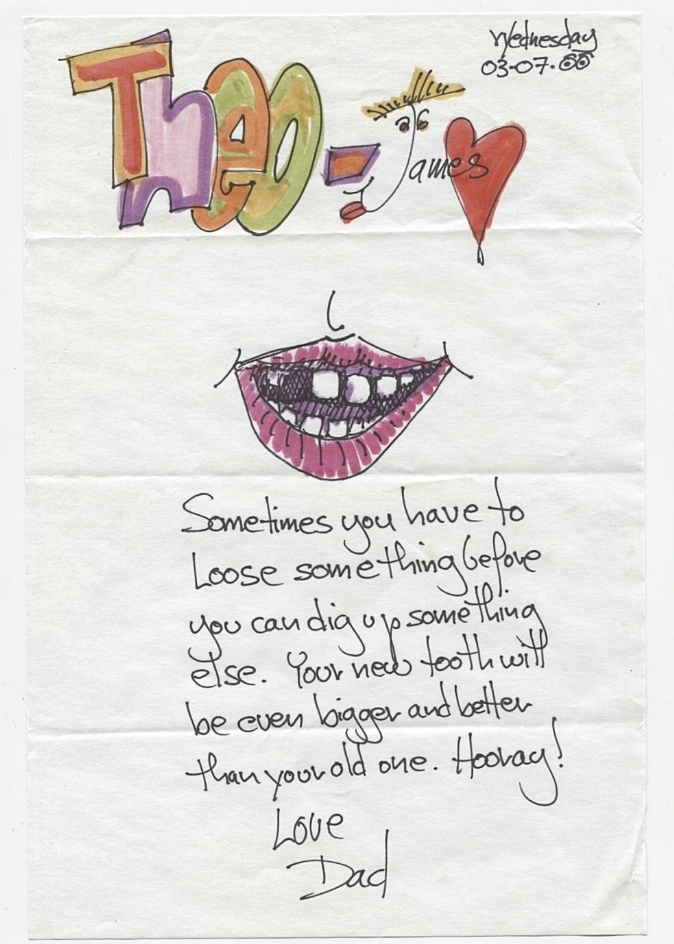 Sometimes you have to lose something before you can dig up something else. Your new tooth will be even bigger and better than your old one. Hooray!