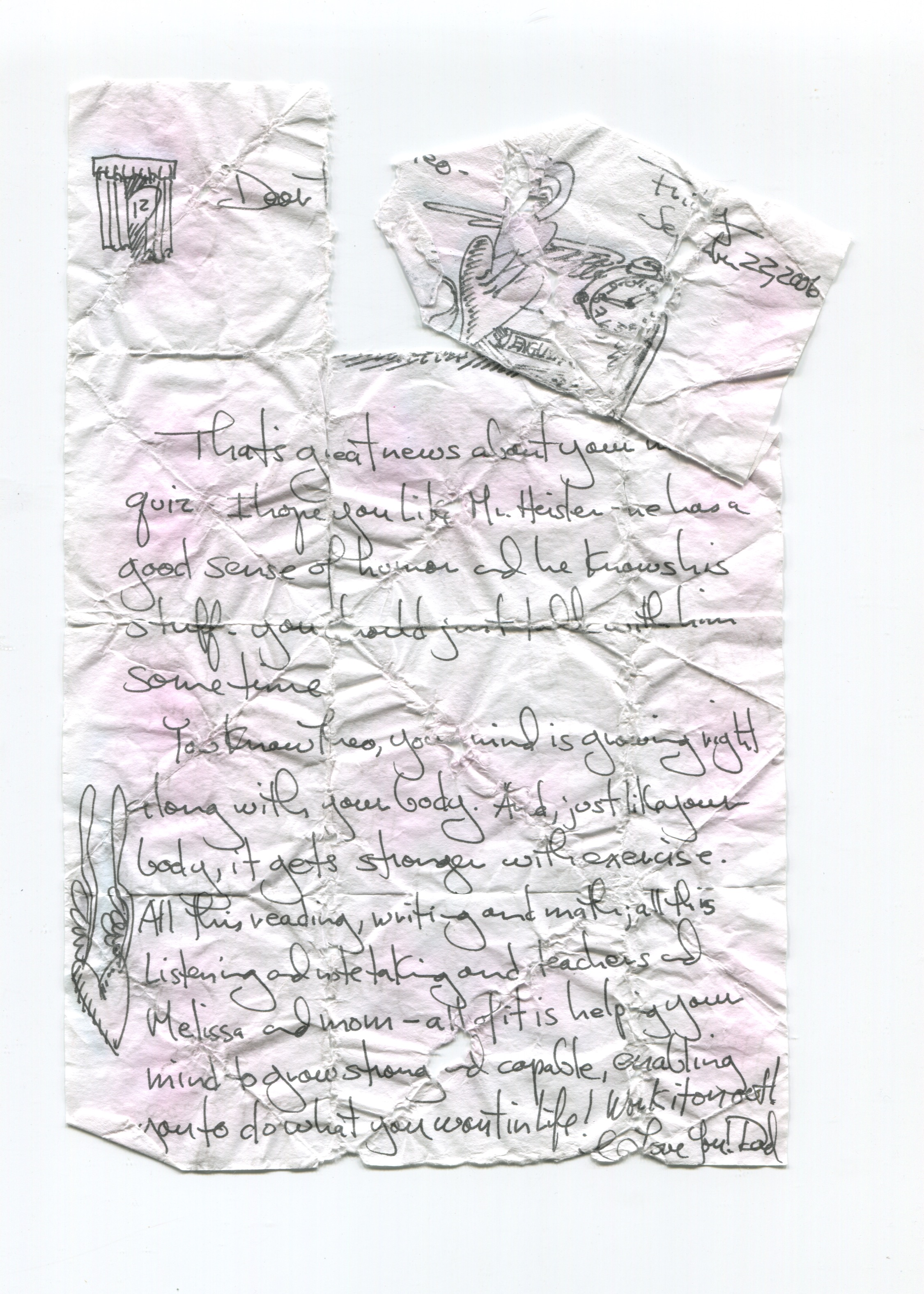 damaged note folded wisdom