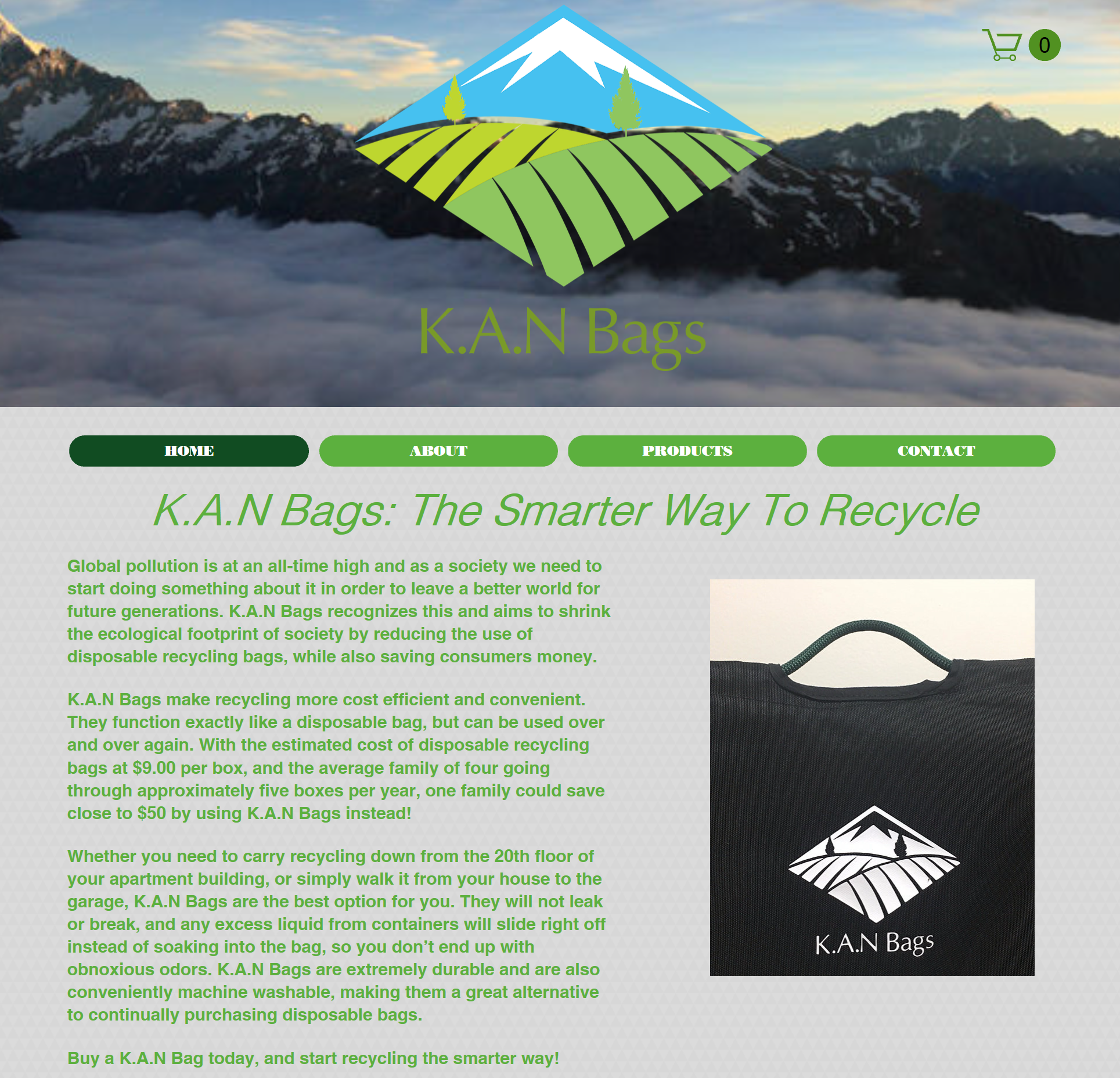 Website Copy  K.A.N Bags