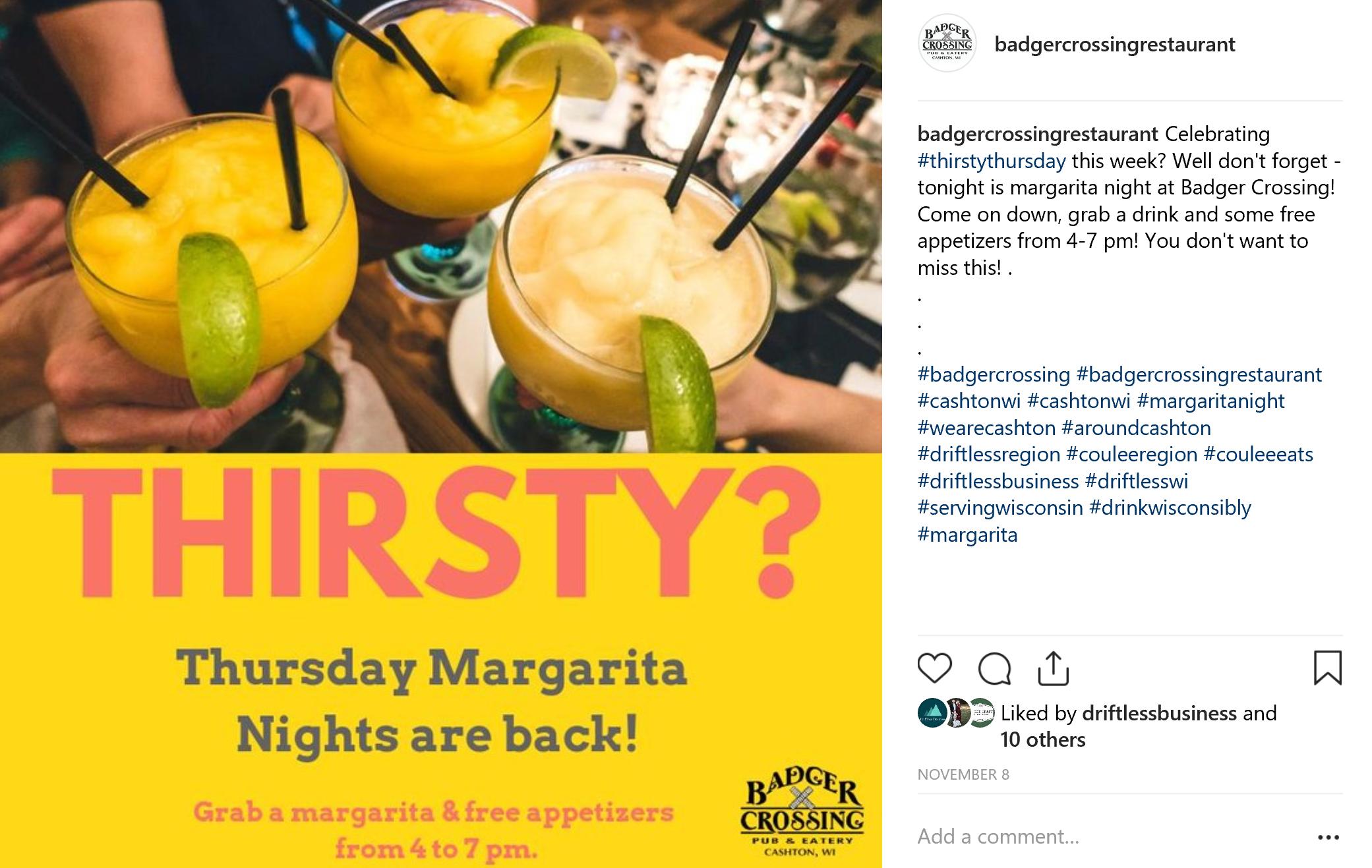 Social Media Post (Instagram) Badger Crossing