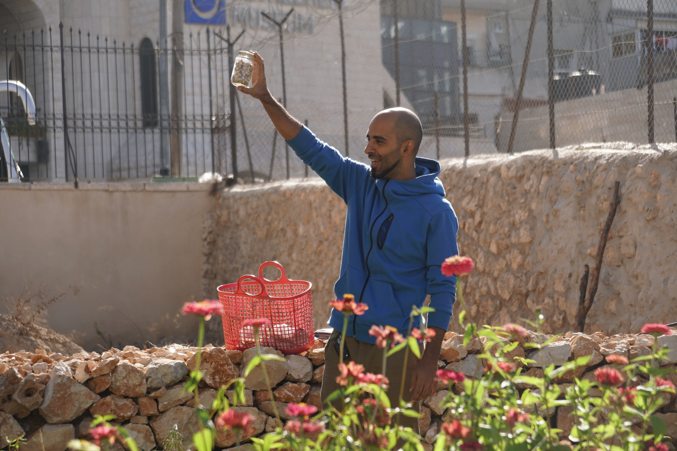 Human resilience and ecological resistance in the tear gas capital of the world  . In and around Bethlehem, Palestinians are building gardens and doing permaculture in an environment threatened by chemical attacks. (Environmental Health News, 2019) Photo credit: Will Duggan/Eyewitness Palestine