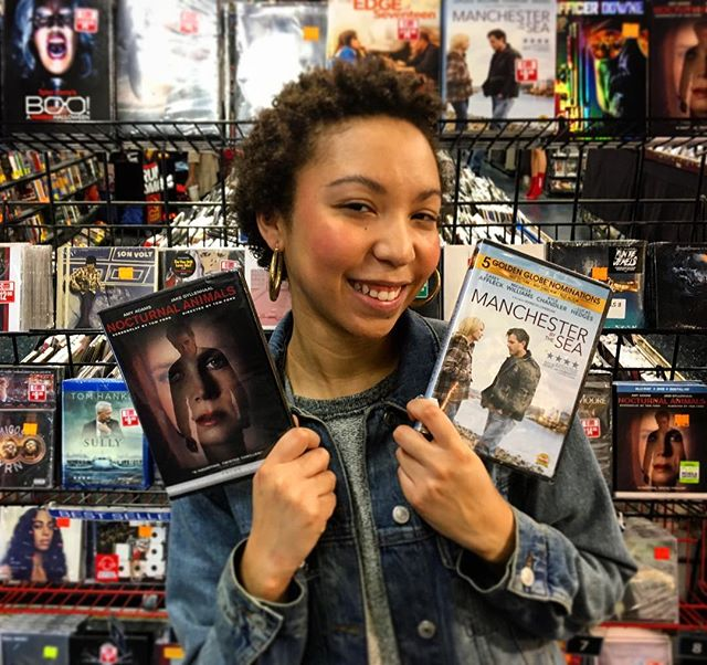This girl's trynna watch some Oscar movies, how about you? Available on DVD and blu-ray. #ShopLocal #ShopSmall #NocturnalAnimals #manchesterbythesea #thesoundgarden
