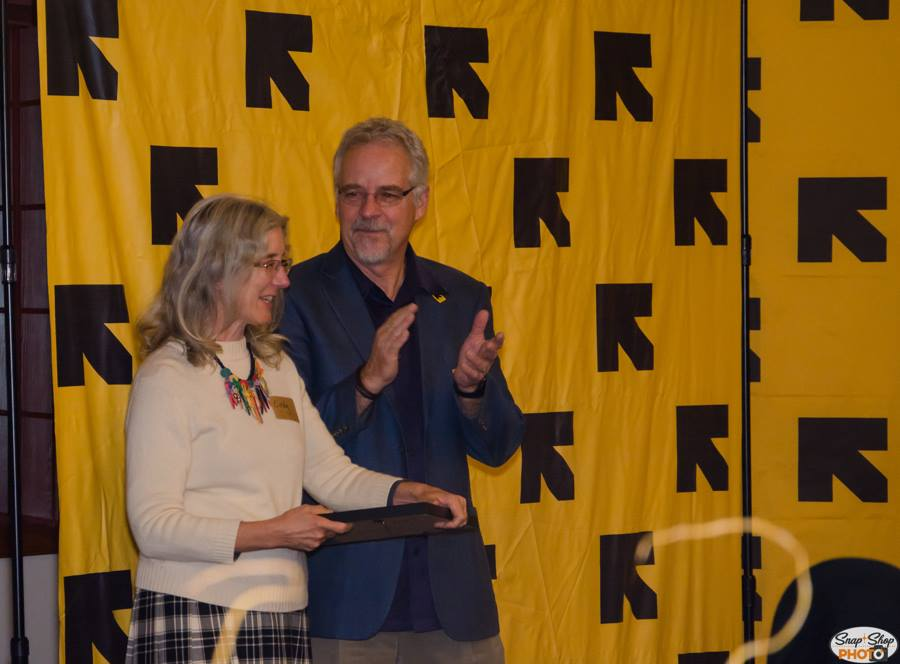 Patrick Poulin, acting regional director of the IRC Pacific/West, presented four Rescue Partner awards. The first went to Cindy Newell, a dedicated volunteer who has served in a variety of positions.