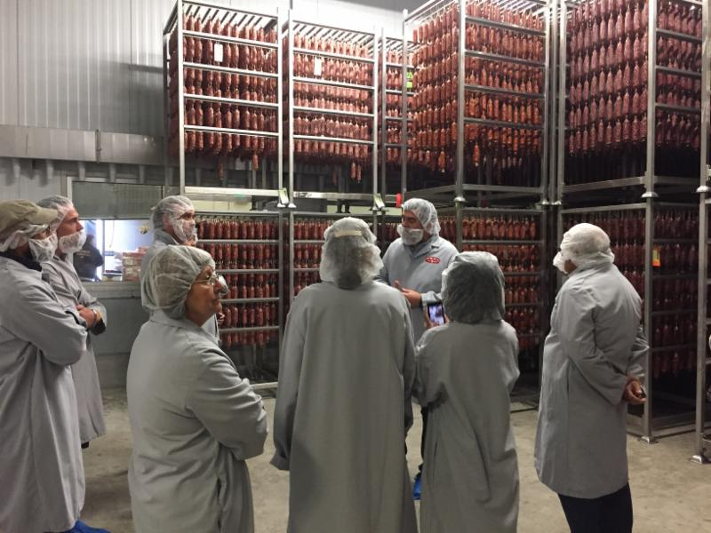 Entrepreneurs learned about the traditions of making salami the Creminelli way.