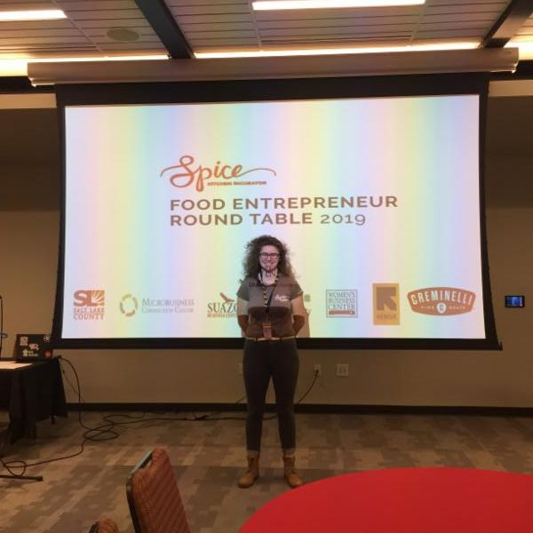 Carey presents the third Food Entrepreneur Round Table event to attendees.