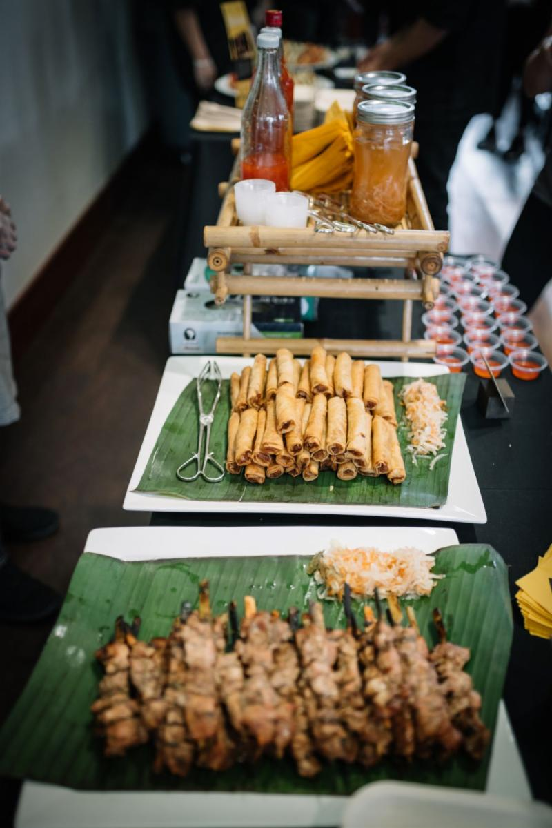 KuyaDel's Filipino chicken skewers and lumpia were a hit (Marc Gardner/IRC)
