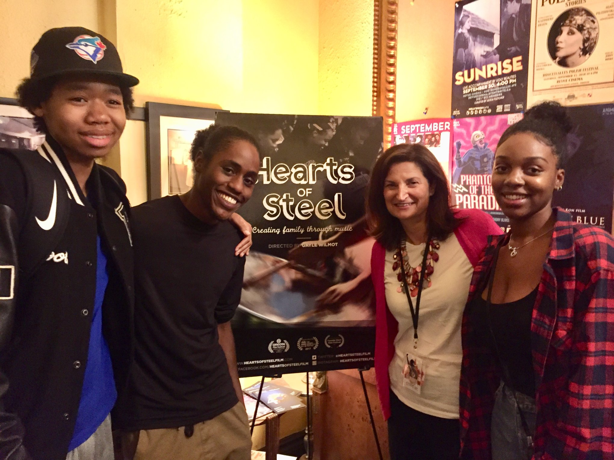Some of the cast of Hearts of Steel attends the Caribbean Tales Film Festival screening