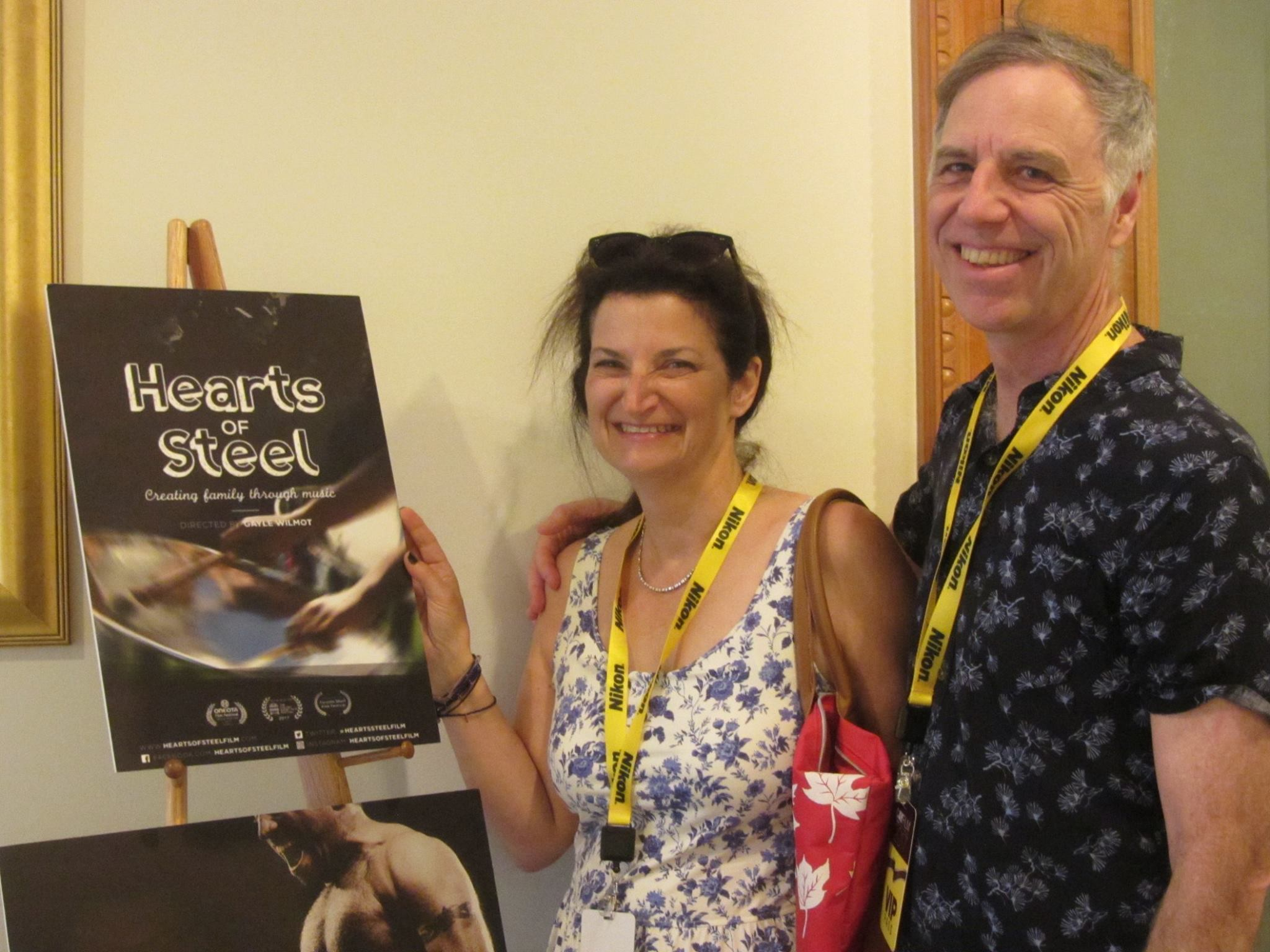 Gayle Wilmot and Kim Davidson attend the Hearts of Steel screening at Cayfilm in the Cayman Islands