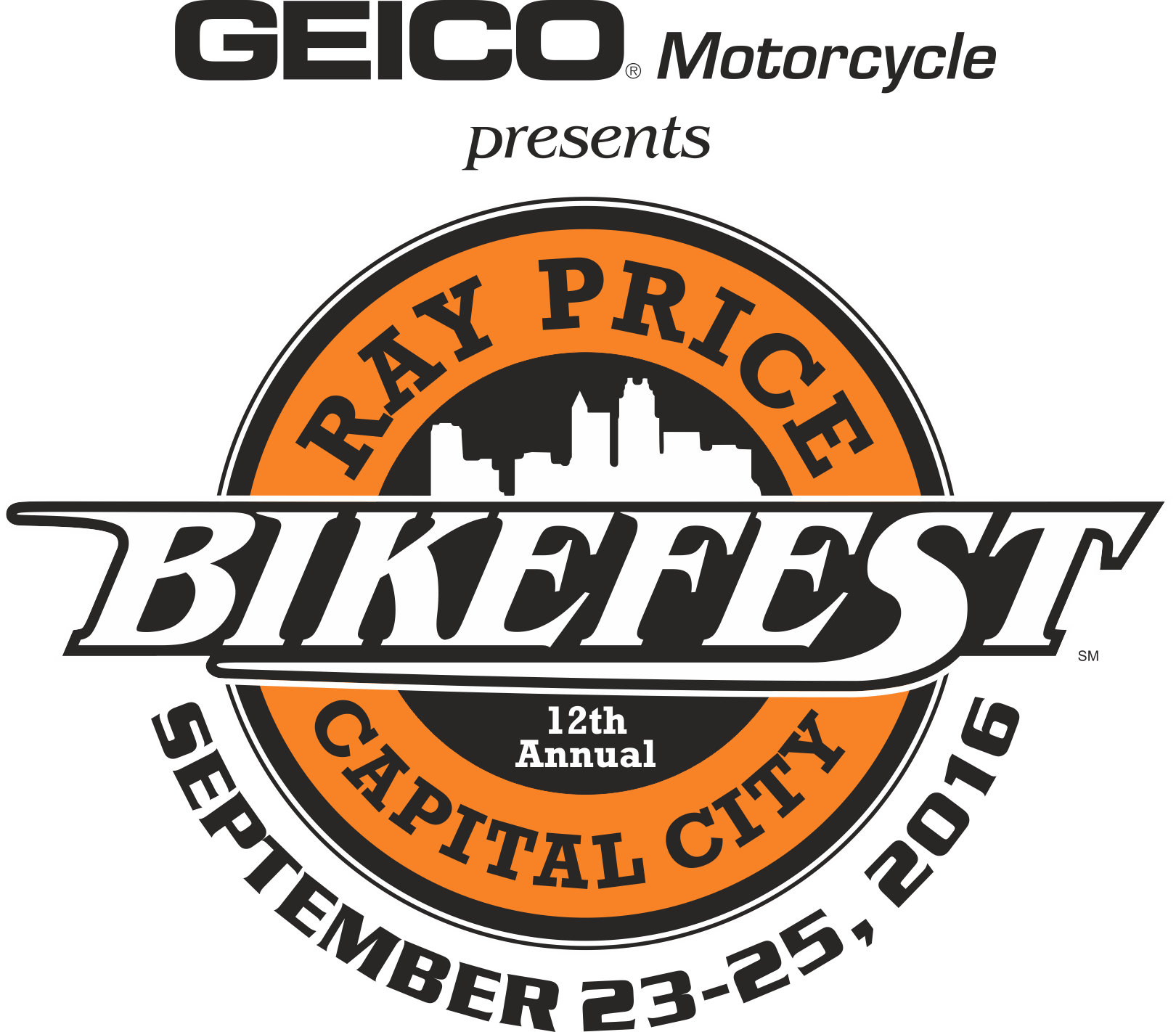 Ray Price Capital City Bikefest | Logo Design by Cybergraph