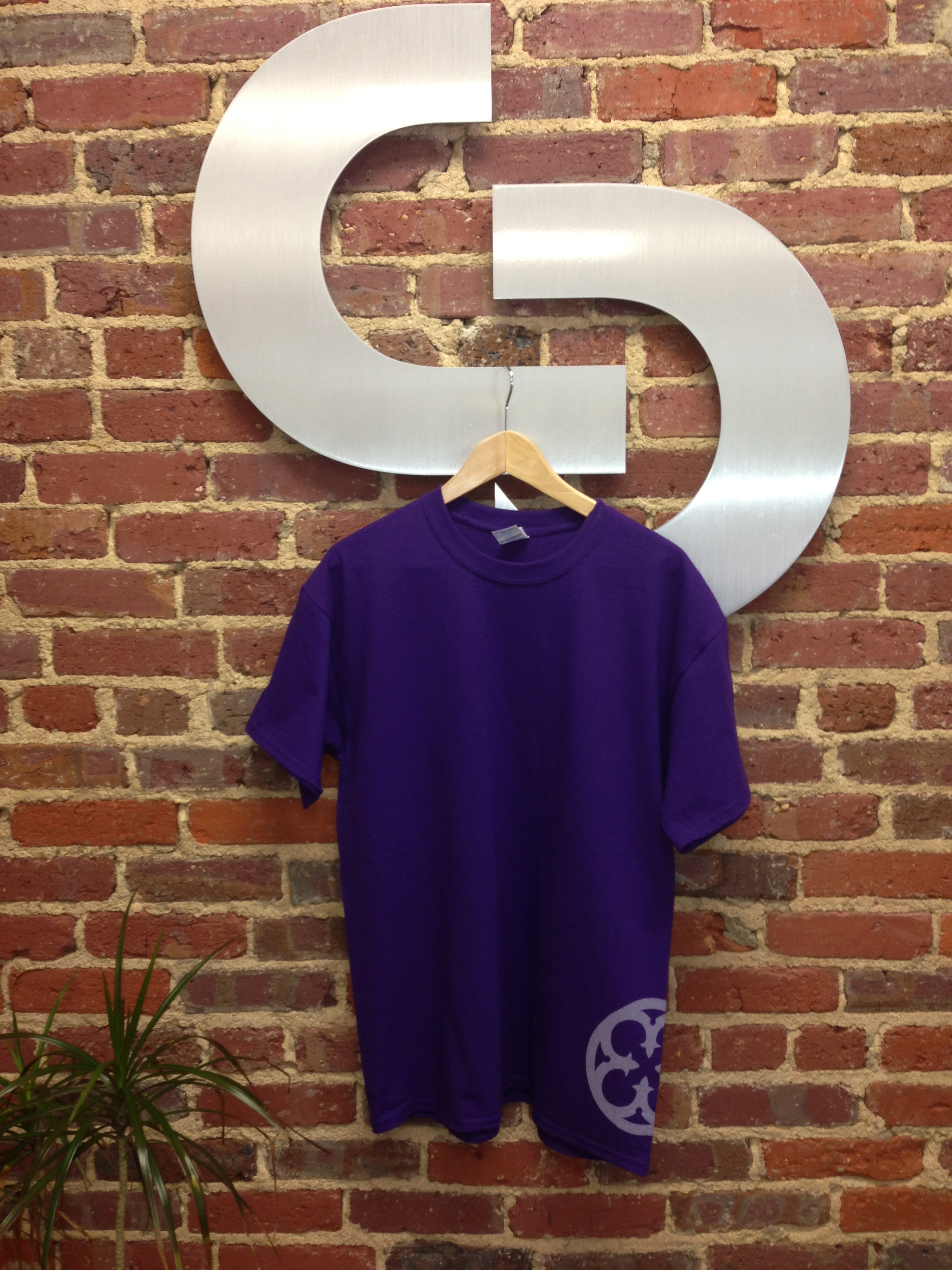 Purple T-Shirt Front with Side Imprint