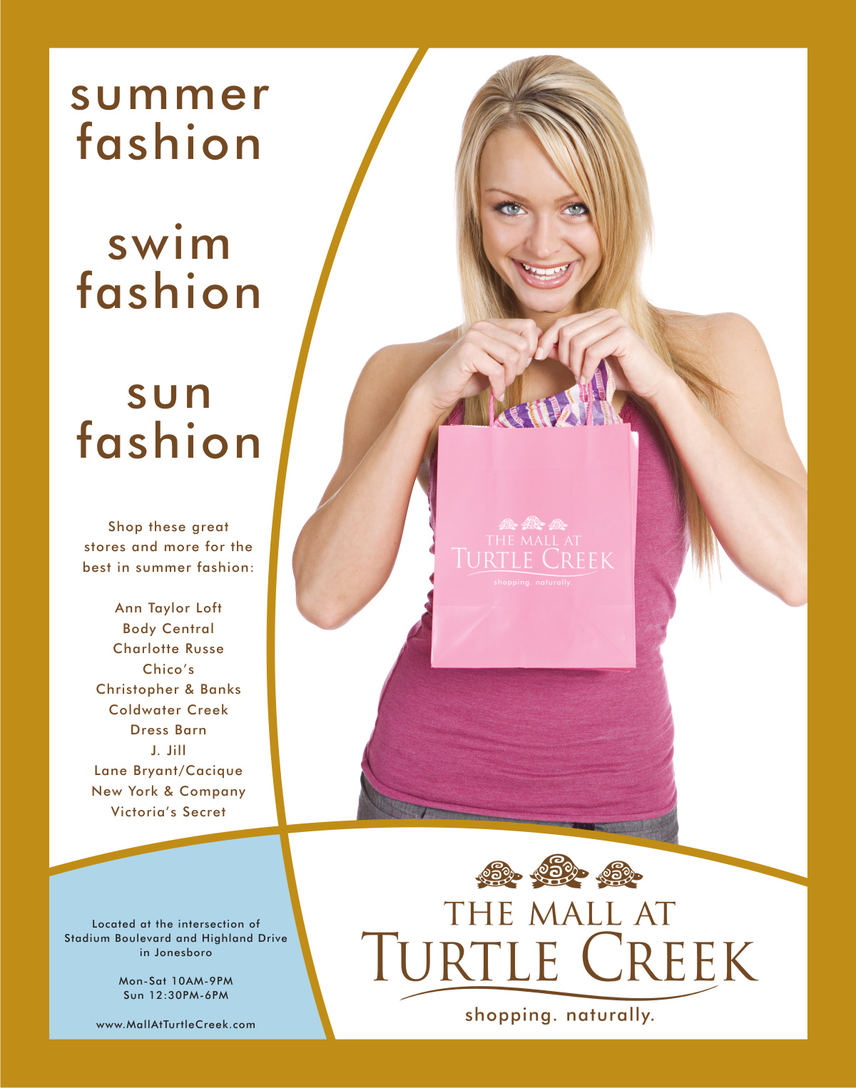 Turtle Creek Summer Fashion Ad  | Graphic Design by Cybergraph