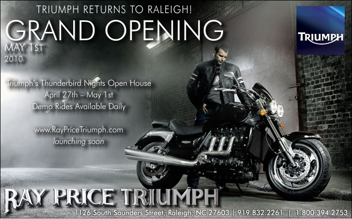 Triumph Motorcycle Half Page Ad | Graphic Design by Cybergraph