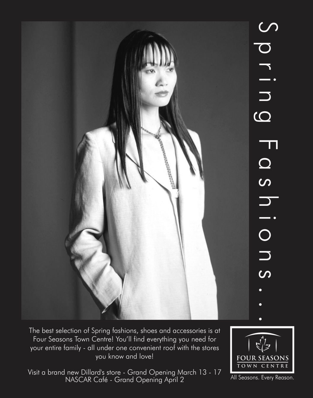 Four Season Spring Fashion ad | Design by Cybergarph of Raleigh