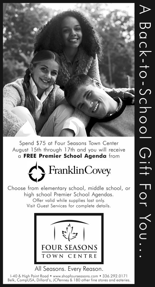 Back-to-School   Four Seasons Image Ad   Design by Cybergraph of Raleigh