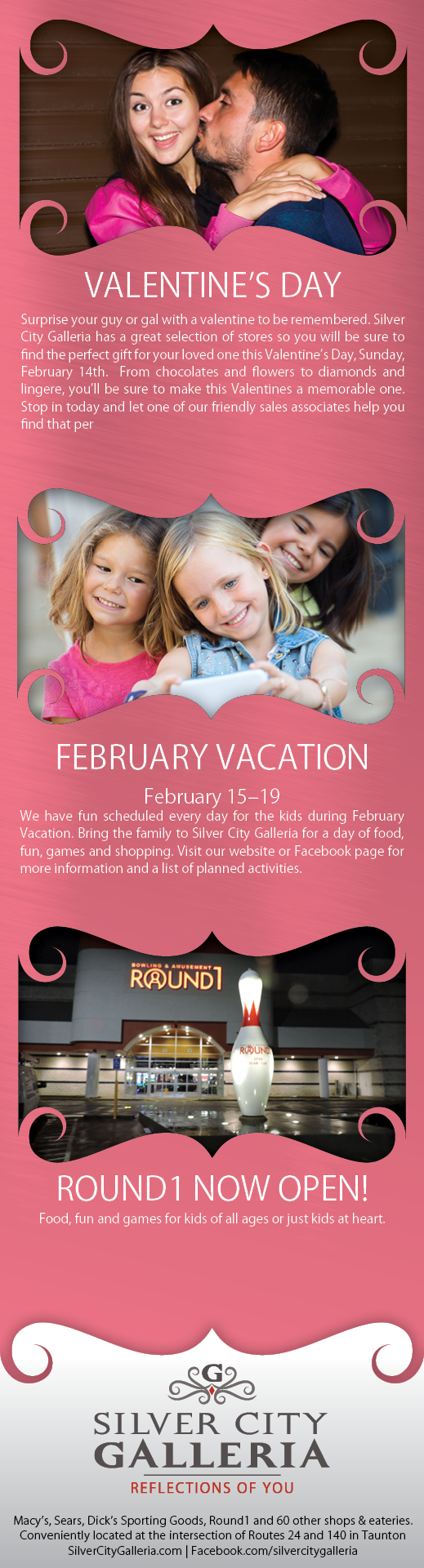 Valentine 1/2 Page Ad Design for Silver City Galleria by Cybergraph®
