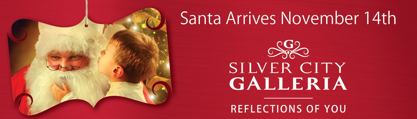 Santa Holiday Billboard Design for Silver City Galleria by Cybergraph®