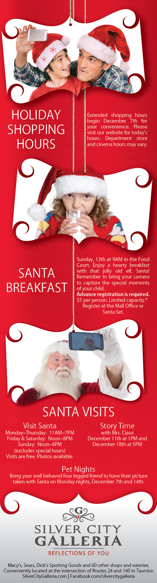 Holiday 1/2 Page Ad Design for Silver City Galleria by Cybergraph®
