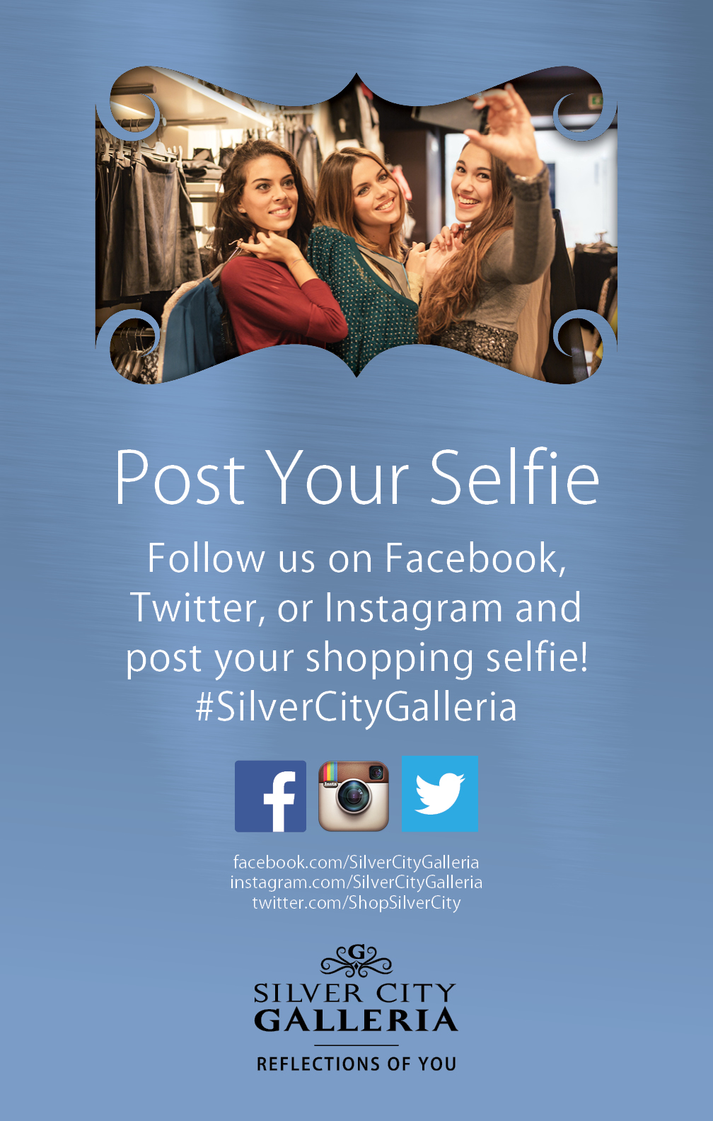 Social Media Ad Design for Silver City Galleria by Cybergraph®