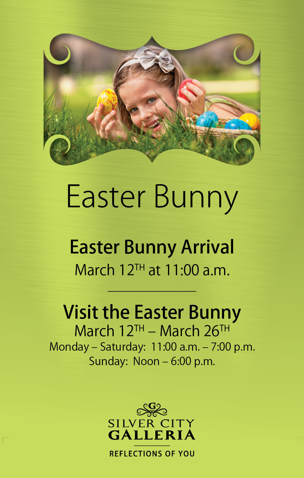 Easter Bunny Ad Design for Silver City Galleria by Cybergraph®