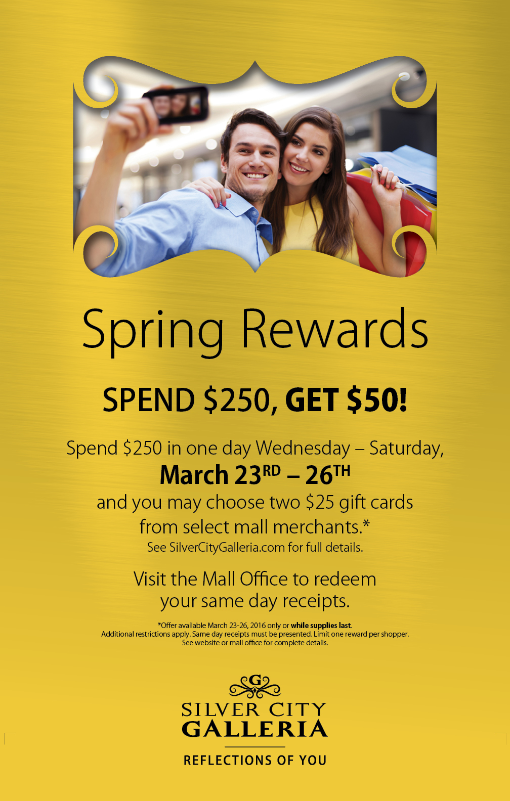Spring Rewards Ad Design for Silver City Galleria by Cybergraph®