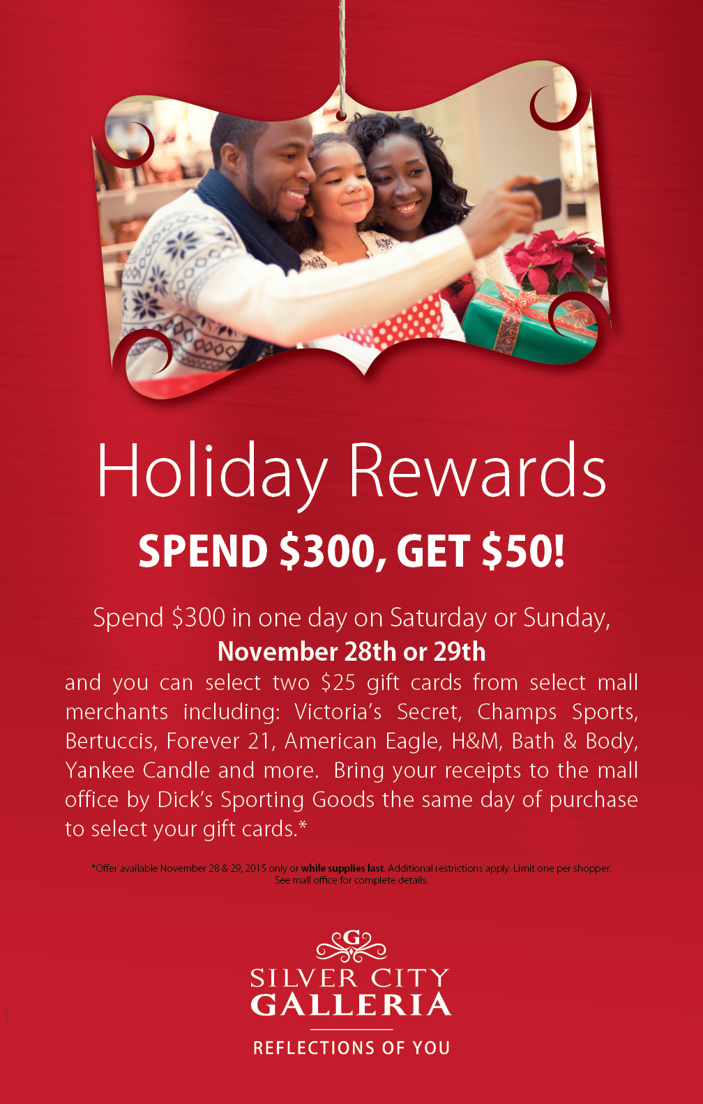 Holiday Rewards Ad Design for Silver City Galleria by Cybergraph®