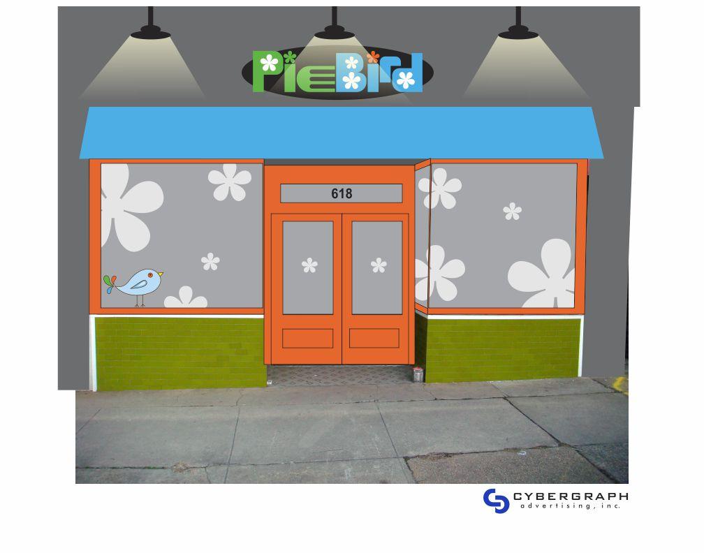 PieBird Restaurant Storefront Design by Cybergraph