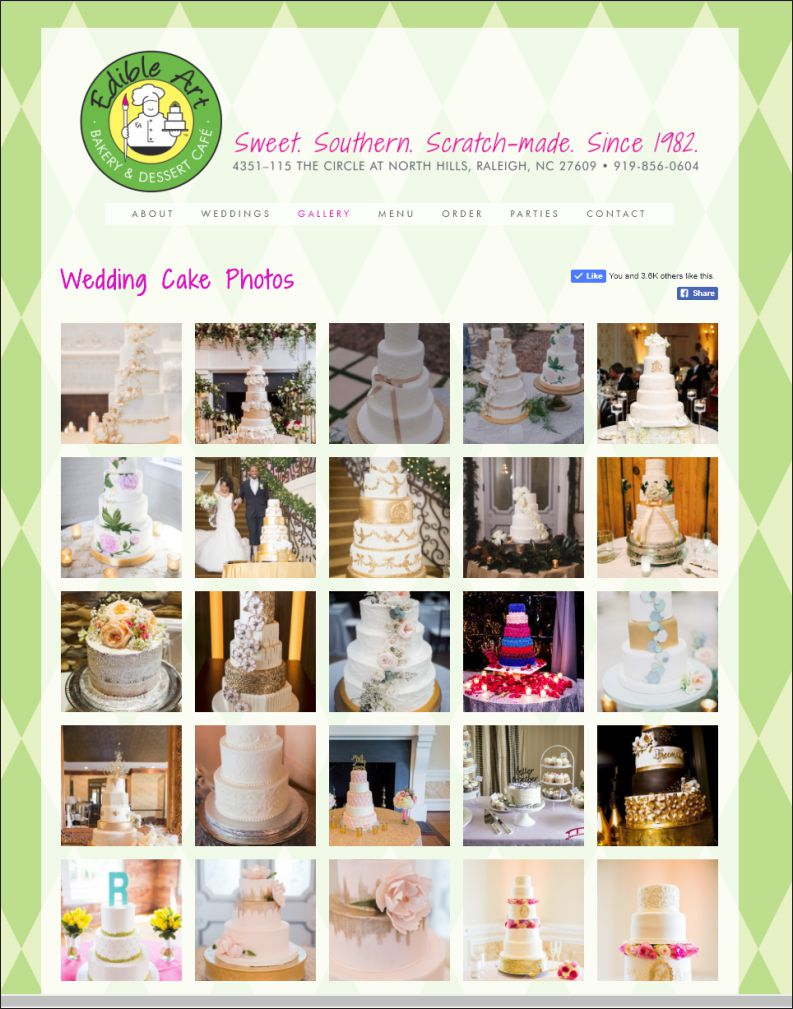 Edible Art Bakery Web Site Design Gallery Page by Cybergraph