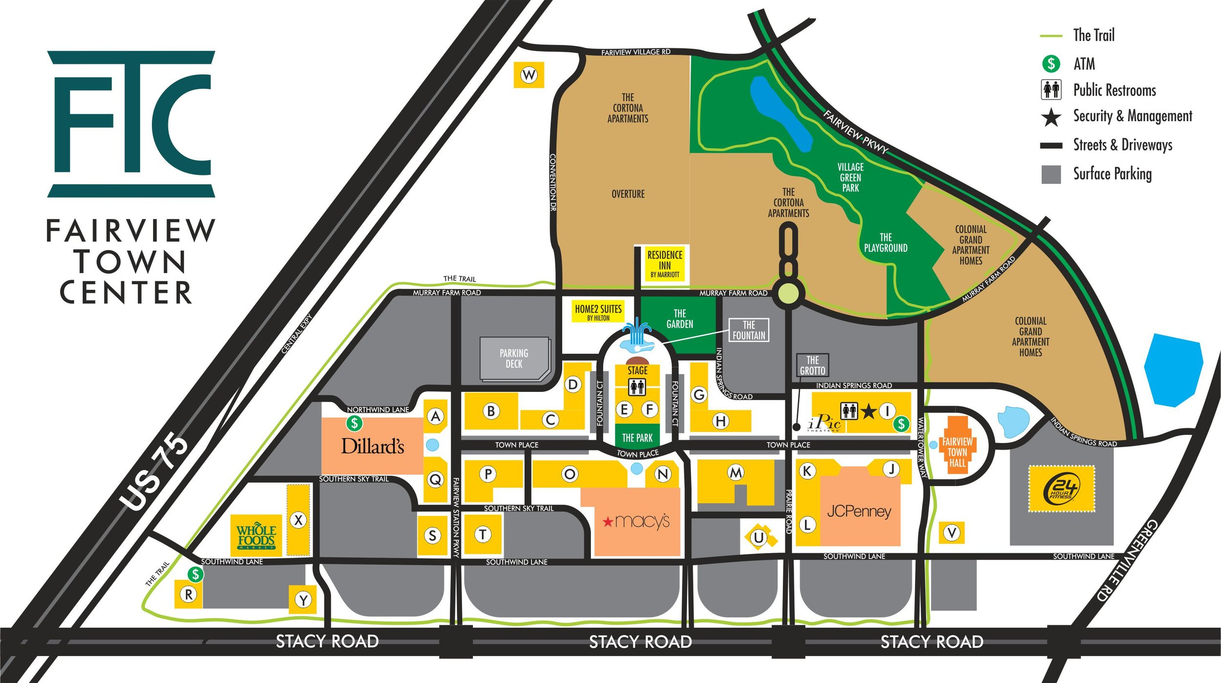 Fairview Town Center Directory Map