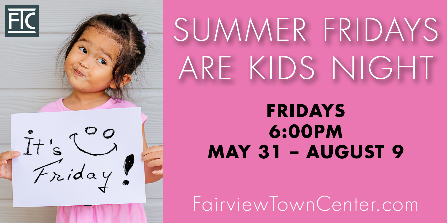 Summer Fridays Are Kids Night LED Display Ad