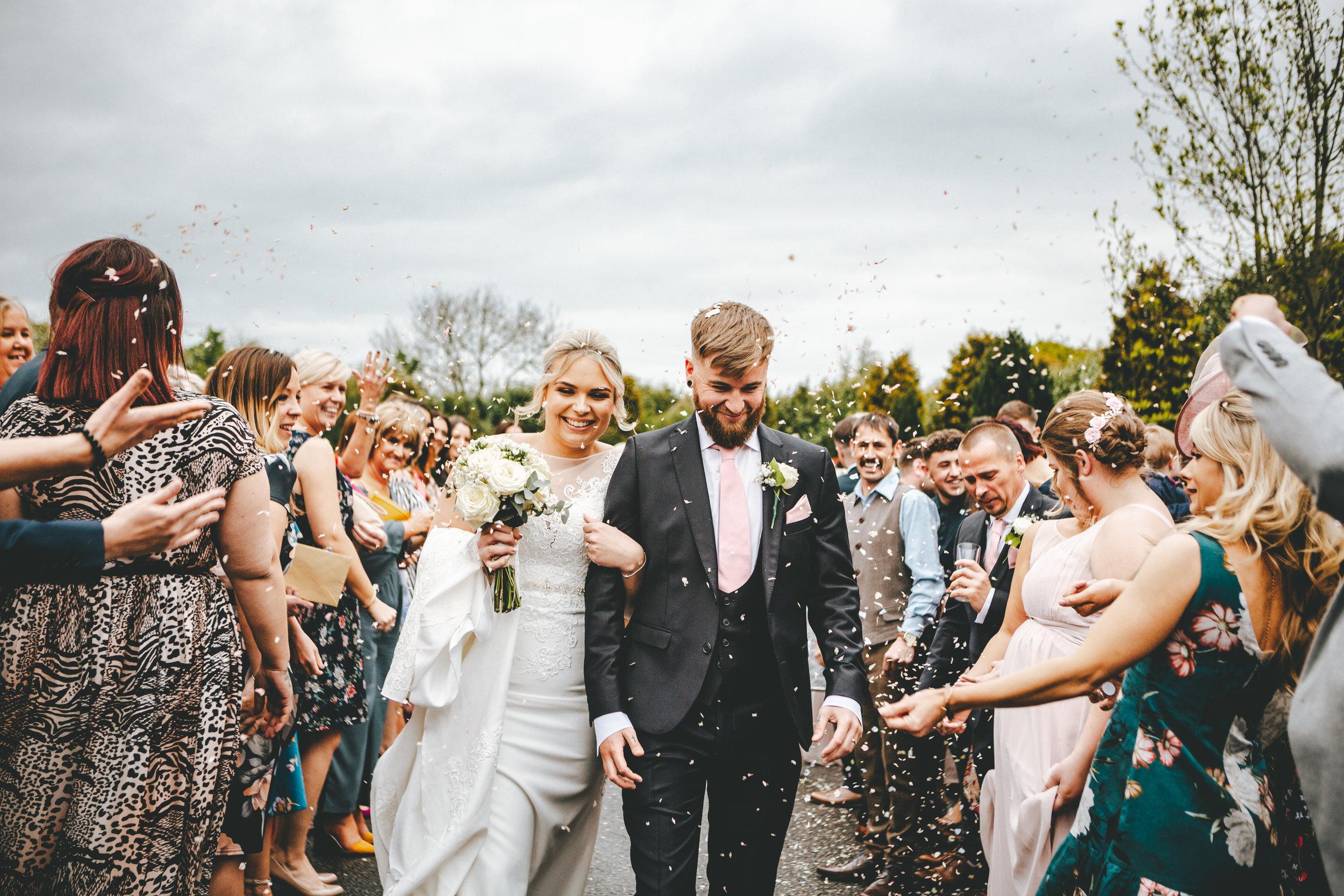 Confetti, Wedding, Bride, Groom, Love, Yorkshire Wedding, Wedding Photographer
