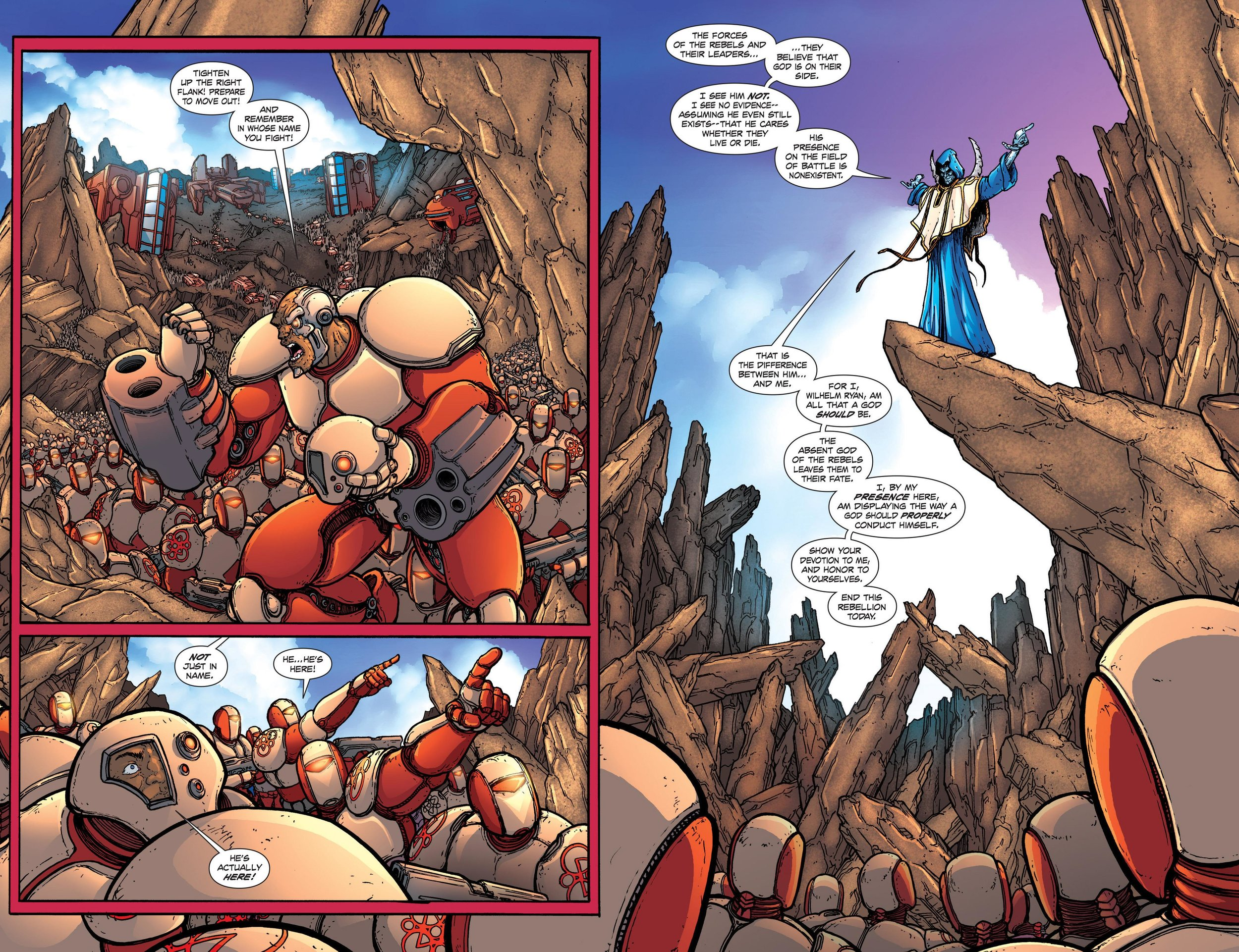 A double page spread; Wilhelm Ryan is actually here on the planet!