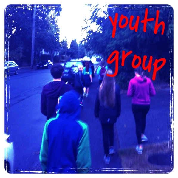 Youth Group  Every 2nd and 4th Friday of the month We gather year 'round! - on the 2nd and 4th Friday of each month for fellowship and fun, from 6-9pm and the occasional Saturday afternoon. On Sunday mornings during the school year, we gather in the Youth room at Oak Bay United. Come on Fridays, Sundays, or both; we'll be glad you came, and hope you are too!  Click here for more information on Youth at Oak Bay United Church.