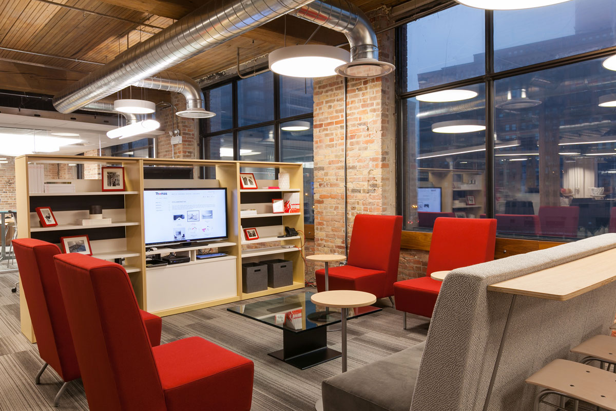 Office furniture design firm showcase, Chicago