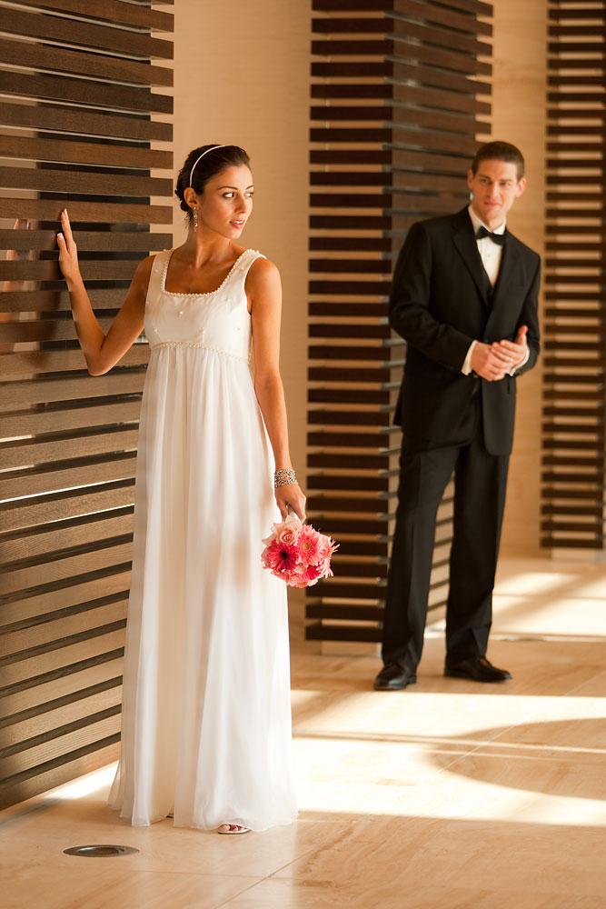 """Bride and groom"" for new luxury hotel marketing materials"
