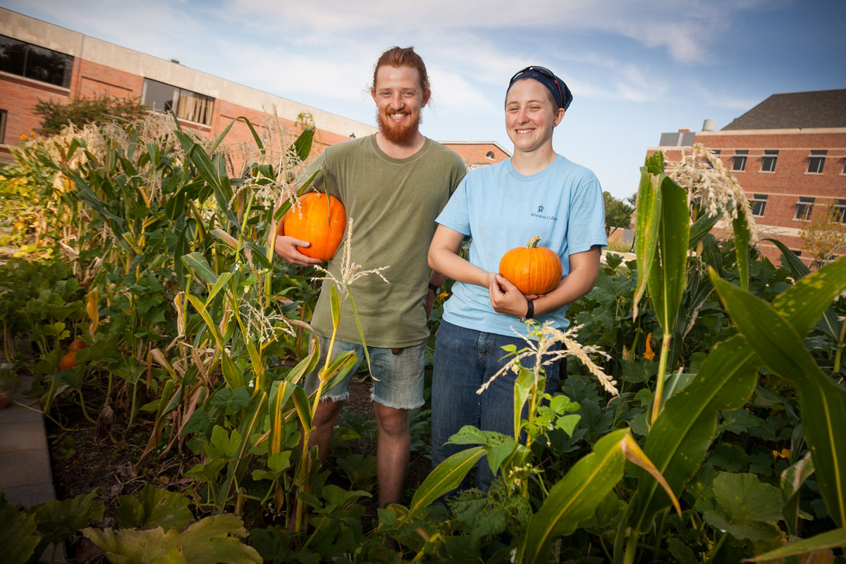 Story about college students growing an organic garden