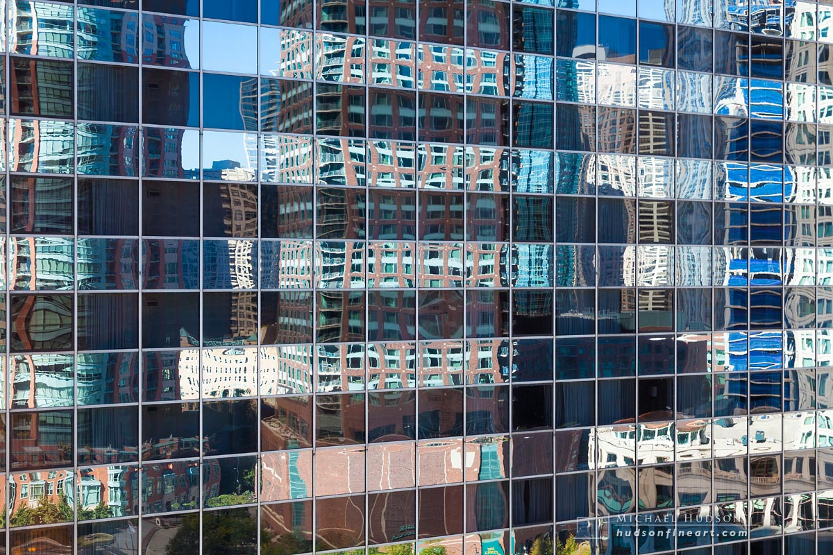 Reflections in glass and steel, Chicago