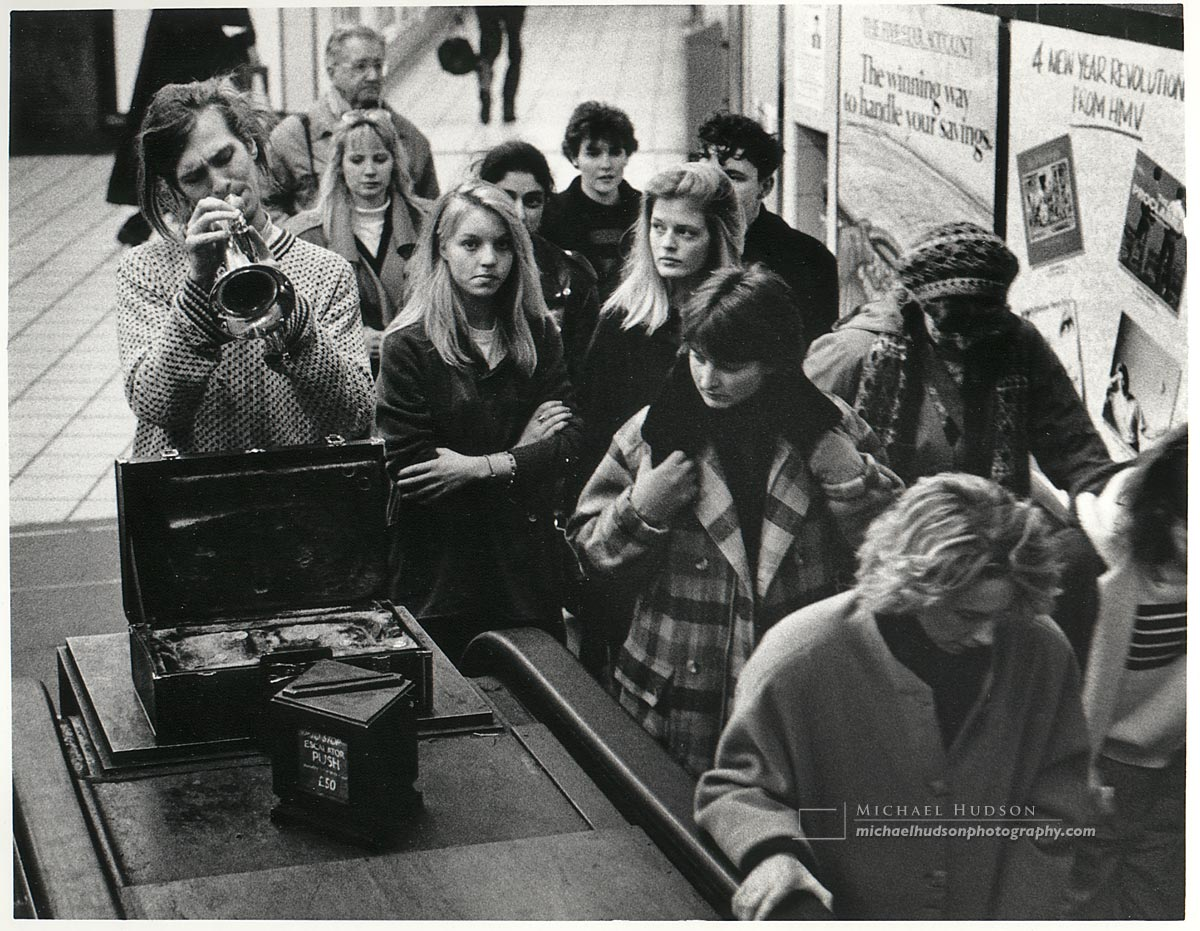 """""""The Busker"""" from The Londoners series, 1988-89"""