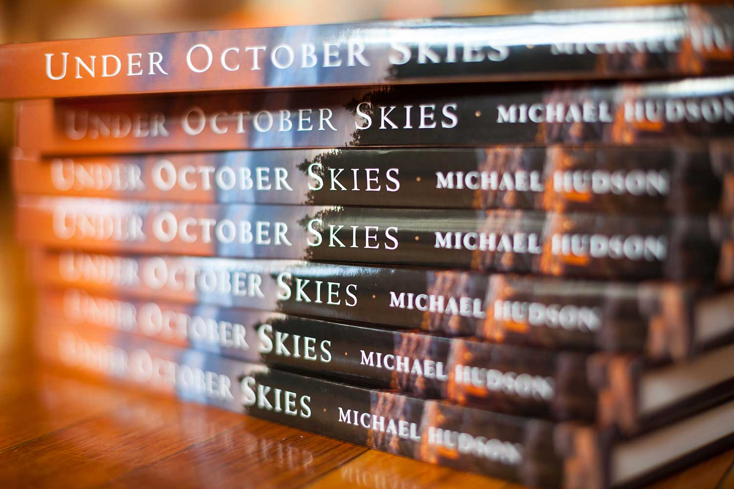 Along with wall prints, I sold several signed copies of my book,  Under October Skies , to fans of Acadia National Park.