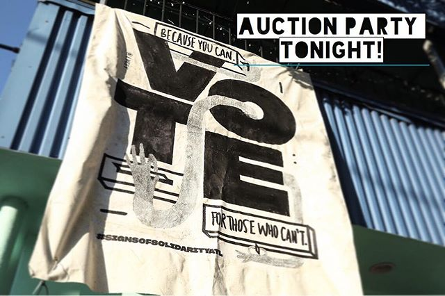 TONIGHT @8pm  ELECTION RESULTS VIEWING PARTY AND ART SHOW.  After you vote, come to @eyedrumatl to see and bid on all the banners we dropped this year! We are partnering with the girls at GOLDSMACK who also have some wonderful art on display.  THIS EVENT IS FREE AND OPEN TO THE PUBLIC!  DJ Snacks  Art  88 Forsyth St SW, Atlanta, GA 30303