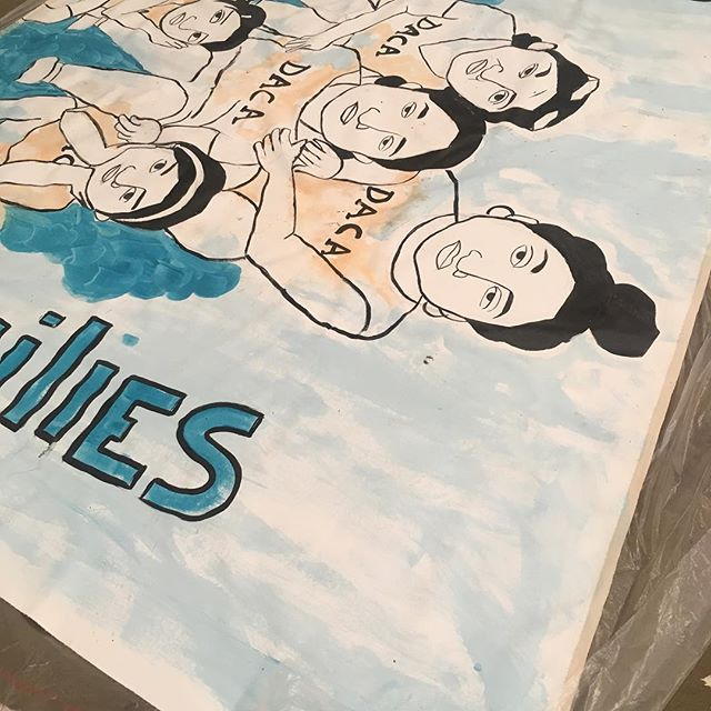 Some banners being prepped for our drop on Saturday! #signsofsolidarity #votelocal